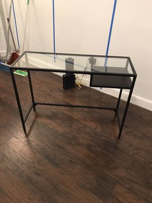 IKEA glass & metal computer desk for Sale in New York, NY