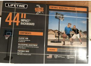 "Lifetime 44"" Impact Adjustable Portable Basketball Hoop, for Sale in Hightstown, NJ"