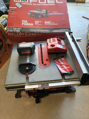 Milwaukee fuel table saw 18v for Sale in Fort Worth, TX