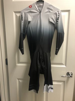Castelli Body Paint 4.x Long-Sleeve Speed Suit Silver/Gray XL for Sale in Orlando, FL