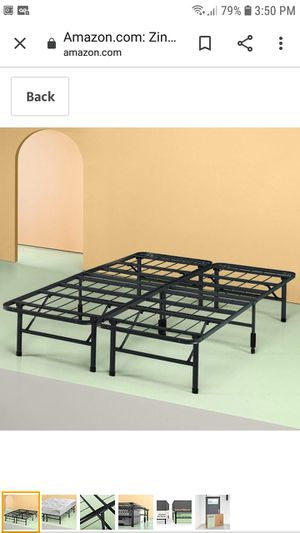 Queen size metal bed frame for Sale in Hartford, CT