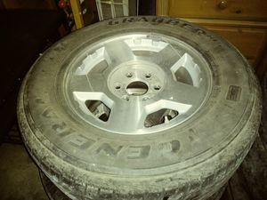 3 Chevy Silverado tires with rims for Sale in Arlington, TX