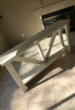 Handmade wooden entry table for Sale in Nuevo, CA