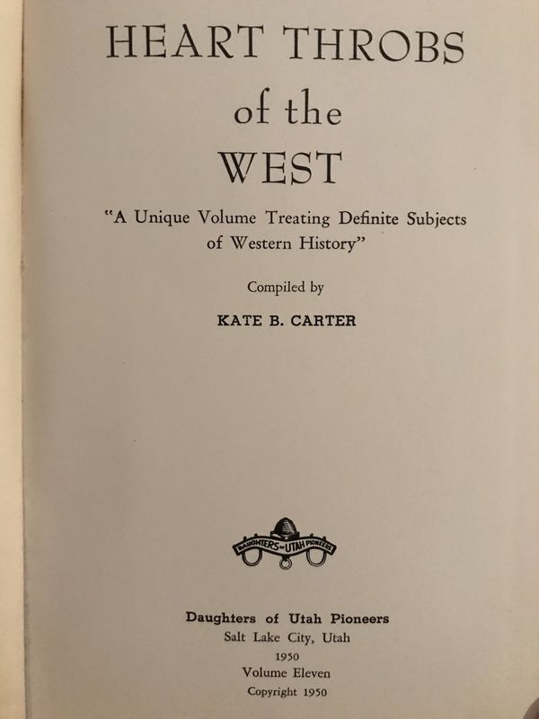 Heart Throbs of the West Volume 11