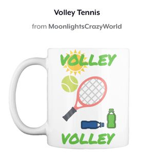 Volley tennis coffee mug   travel mugs   cups   sports   racket   balls   shoes   art   crafts   gifts for men  women   kids   Christmas   xmas   bir for Sale in Killeen, TX