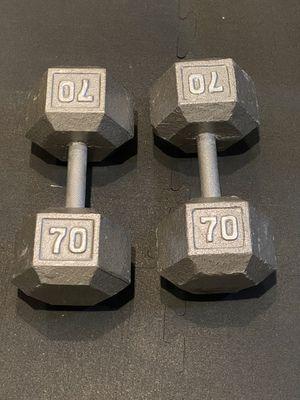 Heavy 70 lb dumbbells set for Sale in Irvine, CA
