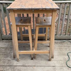 High Top Table With 2 Stools for Sale in Marietta,  GA