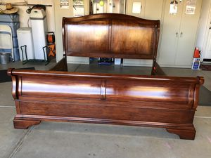 Solid wood sleigh King bed frame for Sale in Brentwood, CA