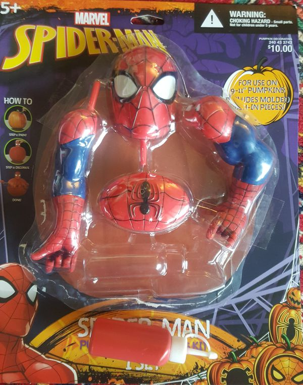 Spider-Man Pumpkin Decorating holloween Kit