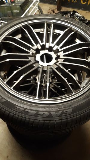 For Goodyear Tires with 5 lug Universal Rims for Sale in Manteca, CA