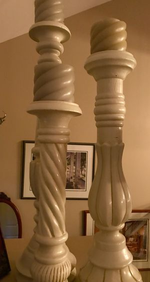 Trio of candle holders for Sale in Plainfield, IL