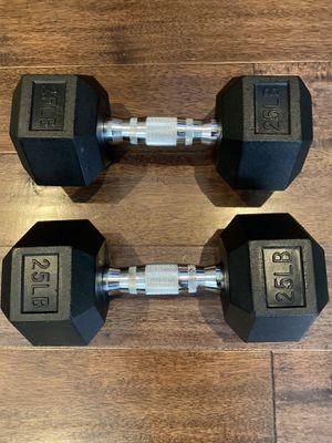 BRAND NEW 25lb Dumbbell Pair Set for Sale in Irvine, CA