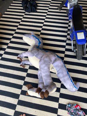 Large blue raptor stuffed animal for Sale in Encinitas, CA