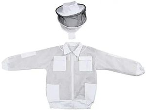 Beekeeping Jacket with Round Veil,Extra Ventilated Smock for Professionals Beekeeper,Three-Layer Network, LARGE . for Sale in Altamonte Springs, FL