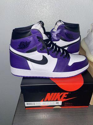 "Jordan 1 ""Court Purple"" Size 10.5 VNDS for Sale in San Antonio, TX"