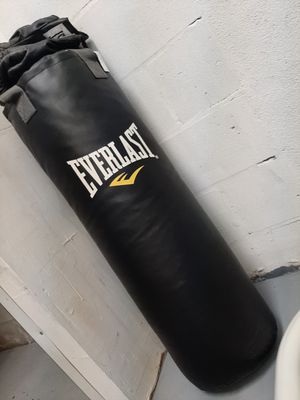 Everlast Punching bag and gloves for Sale in Tampa, FL
