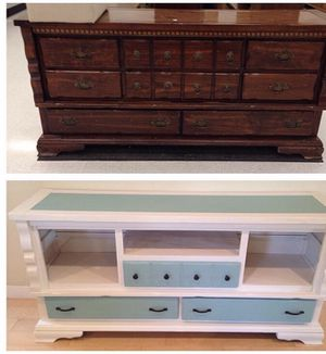 Vintage dresser turned coffee bar/credenza or TV stand for Sale in Portland, OR