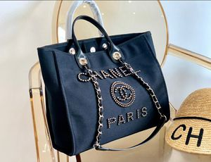 Chanel Shopping Bag Medium Black Canvas Tote for Sale in West Los Angeles, CA