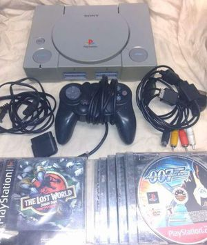 PlayStation one with games for Sale in Signal Hill, CA