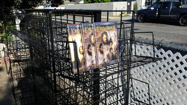 "56"" Heavy Duty Metal Rolling Shelf Grid Display Cart 19 shelves!"