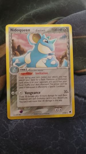 Nidoqueen pokemon card 2006 Pokemon NO.7 made for Sale in Columbus, OH