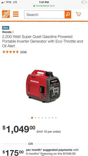 Honda generator whisper for Sale in Modesto, CA