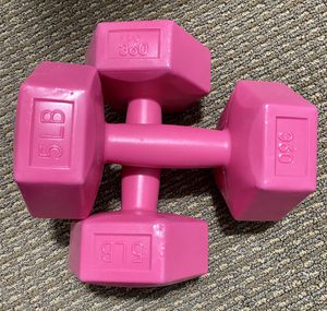 Two Pink 5lb weights for Sale in Kent, WA