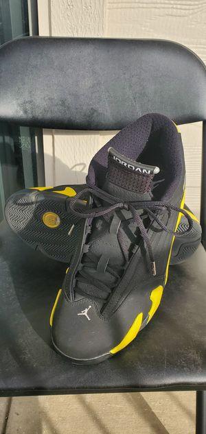 Nike Air Jordan Retro XIV 14 Thunder Black Yellow Size 10.5 for Sale in Irving, TX