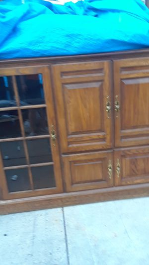 Wooden living room shelf or cabinet for Sale in Denver, CO