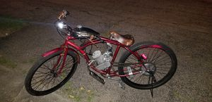 Custom 80cc gas indian knucklehead style with new engine! Fast bike...clean build first $250 today owns it!! for Sale in Warwick, RI
