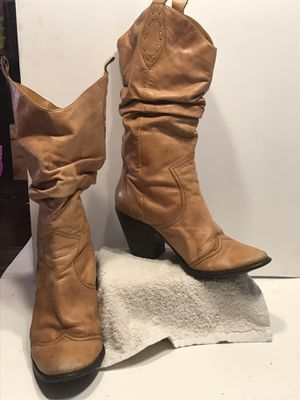 Tan cowgirl boots for Sale in Baltimore, MD