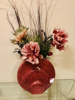 Ceramic Vase With Silk Flowers for Sale in Fort Lauderdale,  FL