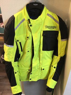 Triumph medium motorcycle jacket for Sale in Scottsdale, AZ