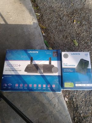 Linskys WiFi router and cable modem $200 or best offer for Sale in Rialto, CA
