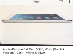 Apple iPad Mini 16 GB 7.9 in for Sale in Lewis Center, OH
