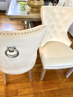 4 upholstery z gallerie dining chairs for Sale in Brentwood, MD
