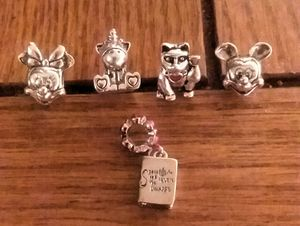 Five Pandora Charms All Stamped All Authentic for Sale in Kent, WA
