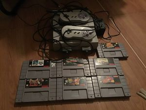 Original SUper Nintendo Entertainment System snes with 7 games 2 controllers for Sale in Tampa, FL