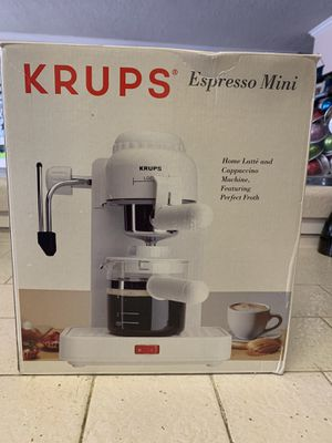 Krups Mini Espresso Maker (White) for Sale in West Carson, CA