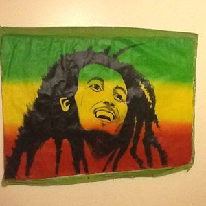 GIANT BOB MARLEY CANVAS PAINTING OVER 5 ft wide ... 60in. X. 44in **** for Sale in Palm Beach Gardens, FL