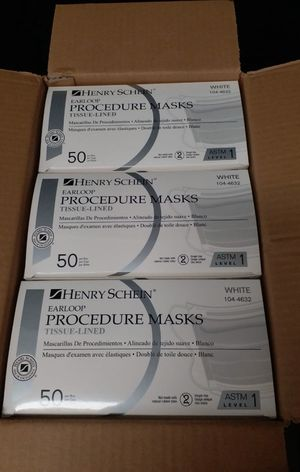 Face Mask ASTM Level 1 White - Case of 6 boxes $228 for Sale in Alhambra, CA