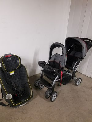 Double stroller or convertible car seat for Sale in Monticello, MN
