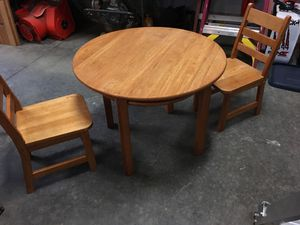 Kids wood table and chairs for Sale in Brush Prairie, WA