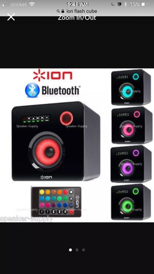 ION Audio Flash Cube Wired Bluetooth Speaker with Multicolored LED Ambient Light for Sale in Pittsburgh, PA