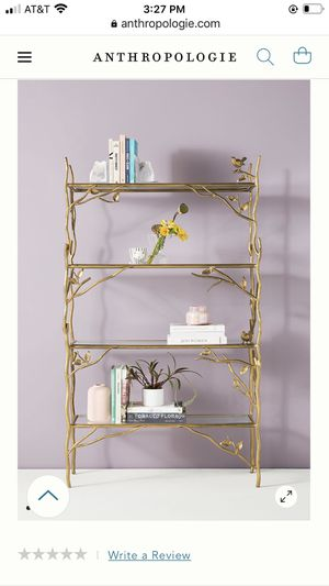 Anthropologie Arboretum Metal and Glass Bookshelves (Rose Gold) for Sale in Woodinville, WA
