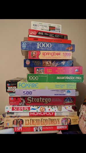 Old/Vintage Board Games/Puzzles $40 for all for Sale in Ballwin, MO