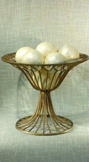 """Iron Metal Decorative Bowl with Orbs 12""""x12"""" *PICKUP ONLY* home decor, household for Sale in Mesa, AZ"""