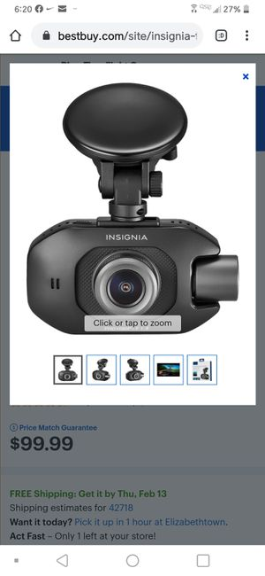 Insignia Full HD Front and Rear Dash Cam for Sale in Lexington, KY