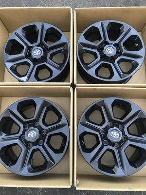 "17"" Toyota 4Runner Tacoma factory wheels rims satin black for Sale in Irvine, CA"