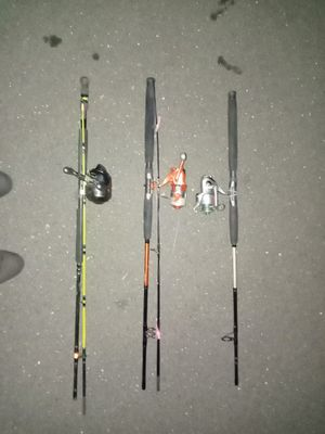 3 salt water fishing poles for Sale in Berlin, CT